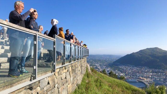Norge Bergen - På toppen av Fløyen