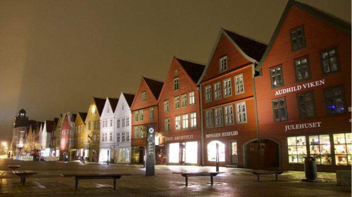 Bergen Bryggen Stroll by Night