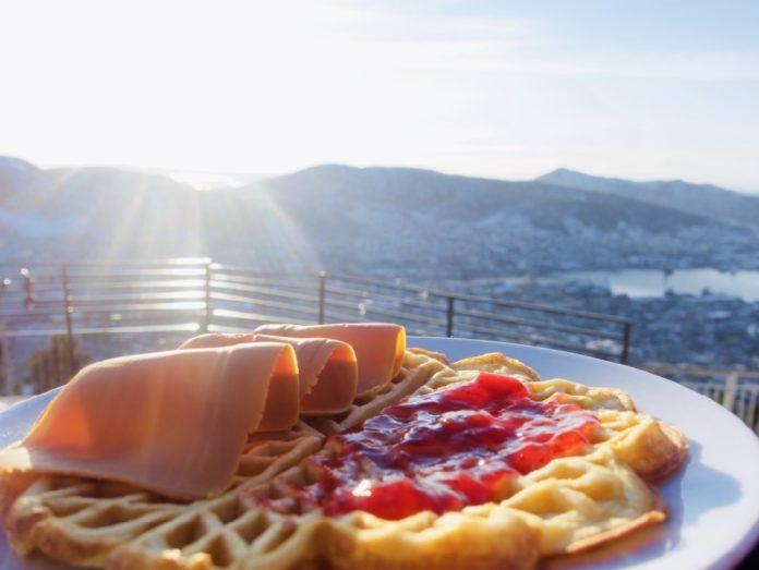 Norge Bergen - Toppen av Fløyen