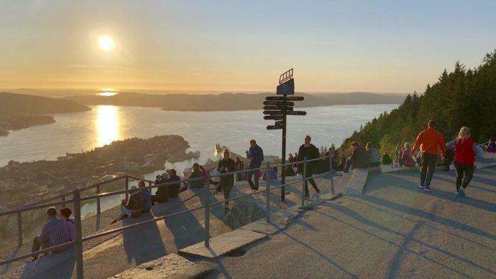 Norge Bergen - Fløyen Bergen