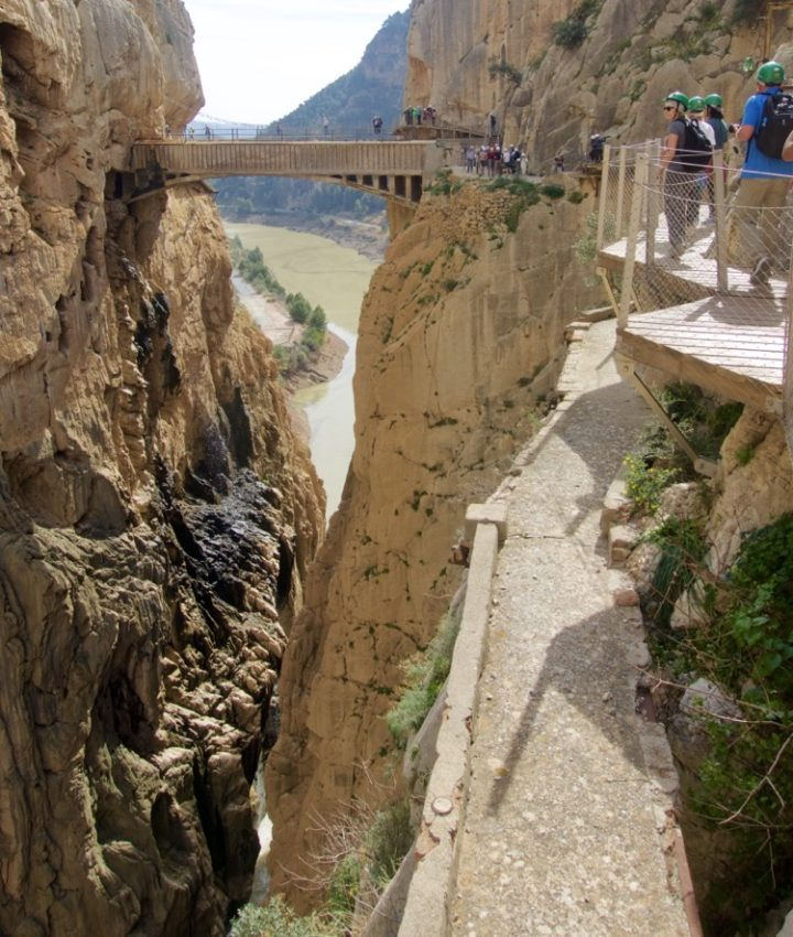 Malaga Spain - The famous bridge at Caminito del Rey