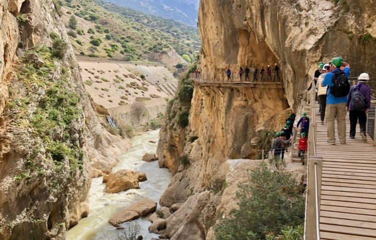 Malaga Spain - On our way at the Caminito Del Rey trail